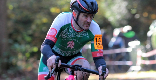 Alan Bingham leading Round 7 of the Ulster Cyclocross League