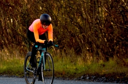 Clare Ludlow of Ardee Cycling Club in action (photo courtesy of Caroline Kerley)